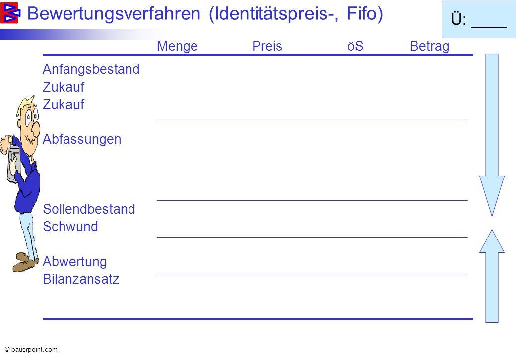 © bauerpoint.com Beispiel: Bildung & Auflösung von Rückstellungen (3 Möglichkeiten) Effektive Zahlung: 10.000,-- 3..