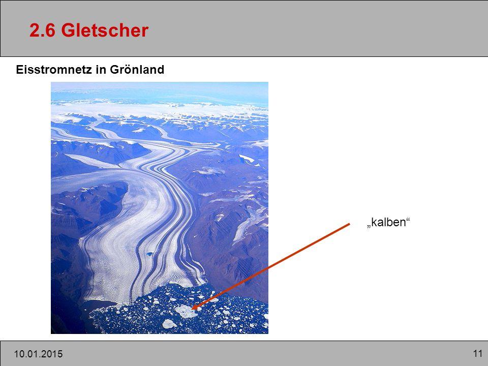 """11 10.01.2015 2.6 Gletscher Eisstromnetz in Grönland """"kalben"""""""