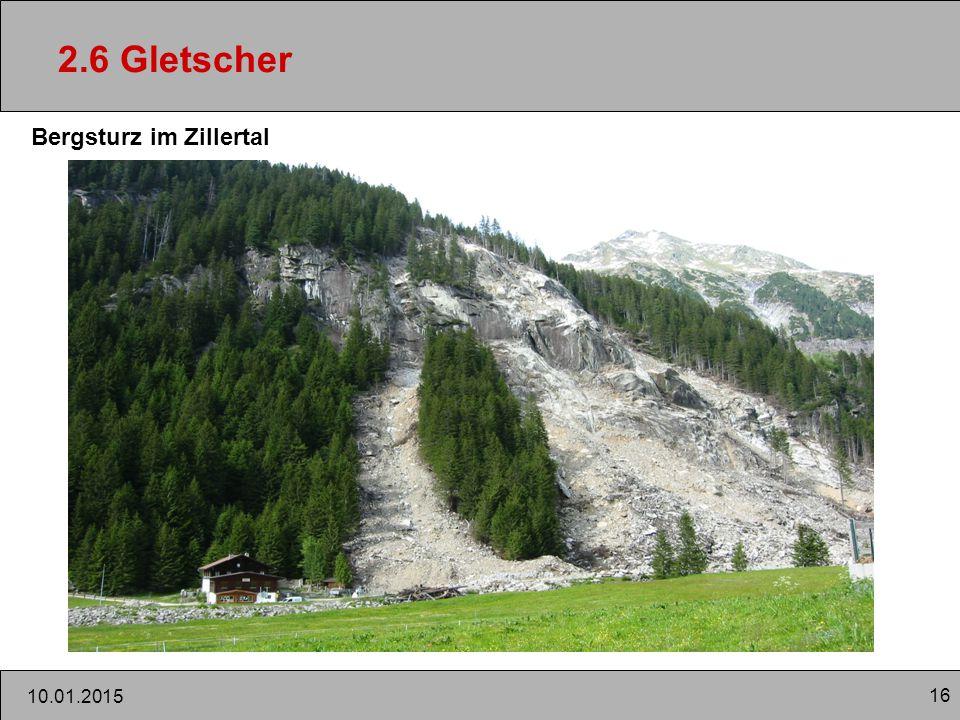 16 10.01.2015 2.6 Gletscher Bergsturz im Zillertal