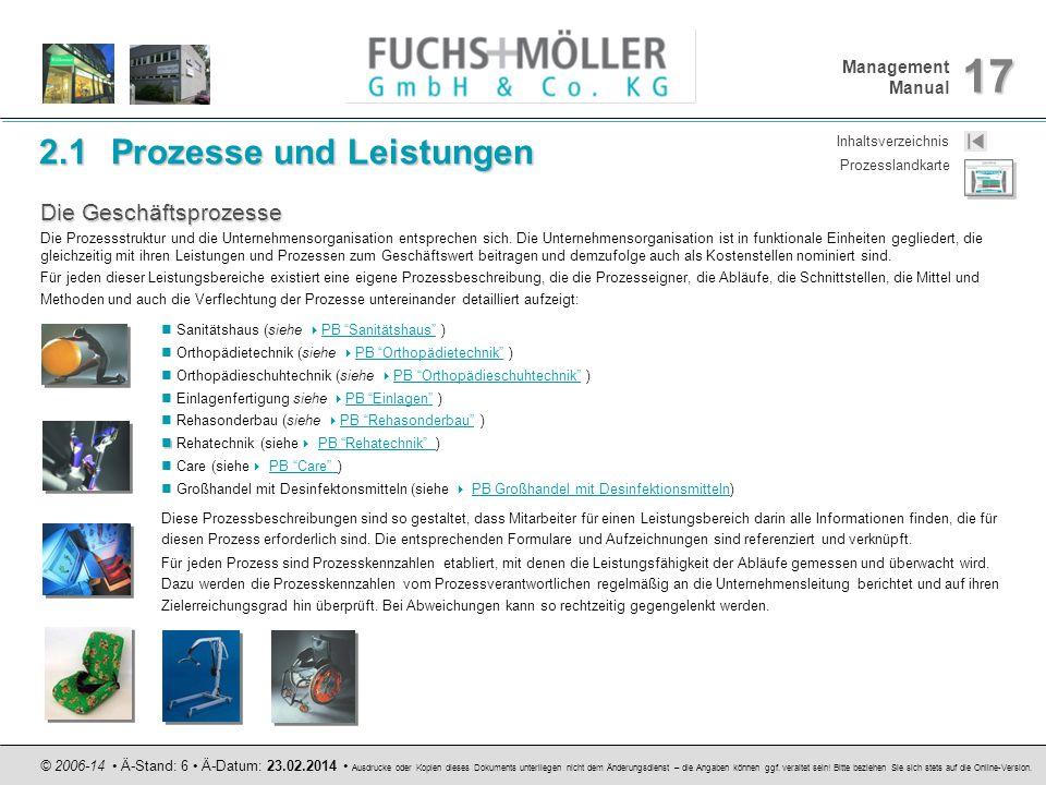 Management Manual 17 © 2006-14 Ä-Stand: 6 Ä-Datum: 23.02.2014 Ausdrucke oder Kopien dieses Dokuments unterliegen nicht dem Änderungsdienst – die Angab