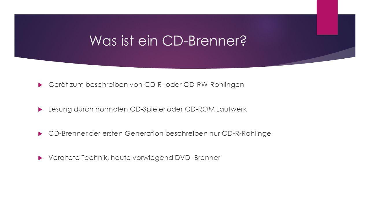 Was ist ein CD-Brenner.