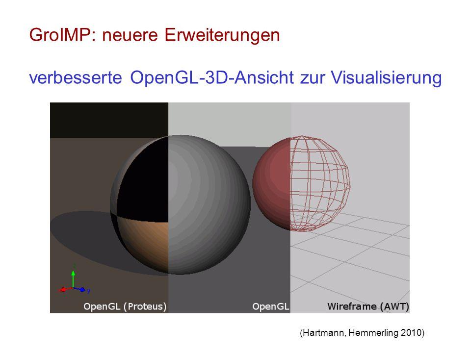 GroIMP: neuere Erweiterungen verbesserte OpenGL-3D-Ansicht zur Visualisierung (Hartmann, Hemmerling 2010)