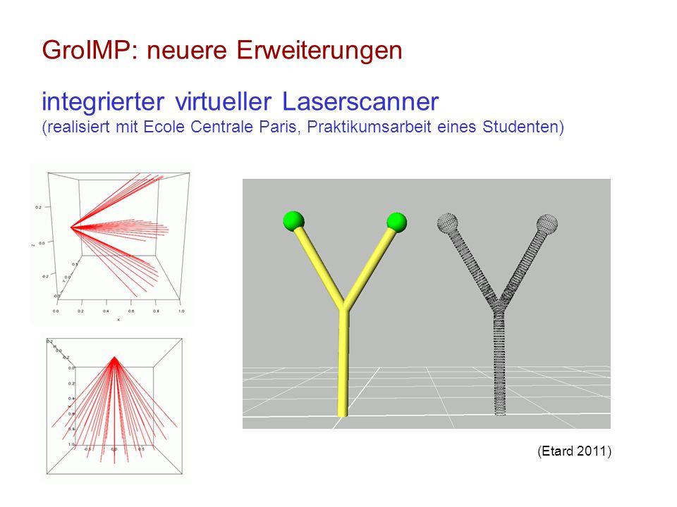 GroIMP: neuere Erweiterungen integrierter virtueller Laserscanner (realisiert mit Ecole Centrale Paris, Praktikumsarbeit eines Studenten) (Etard 2011)