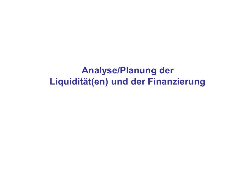 Analyse/Planung der Liquidität(en) und der Finanzierung