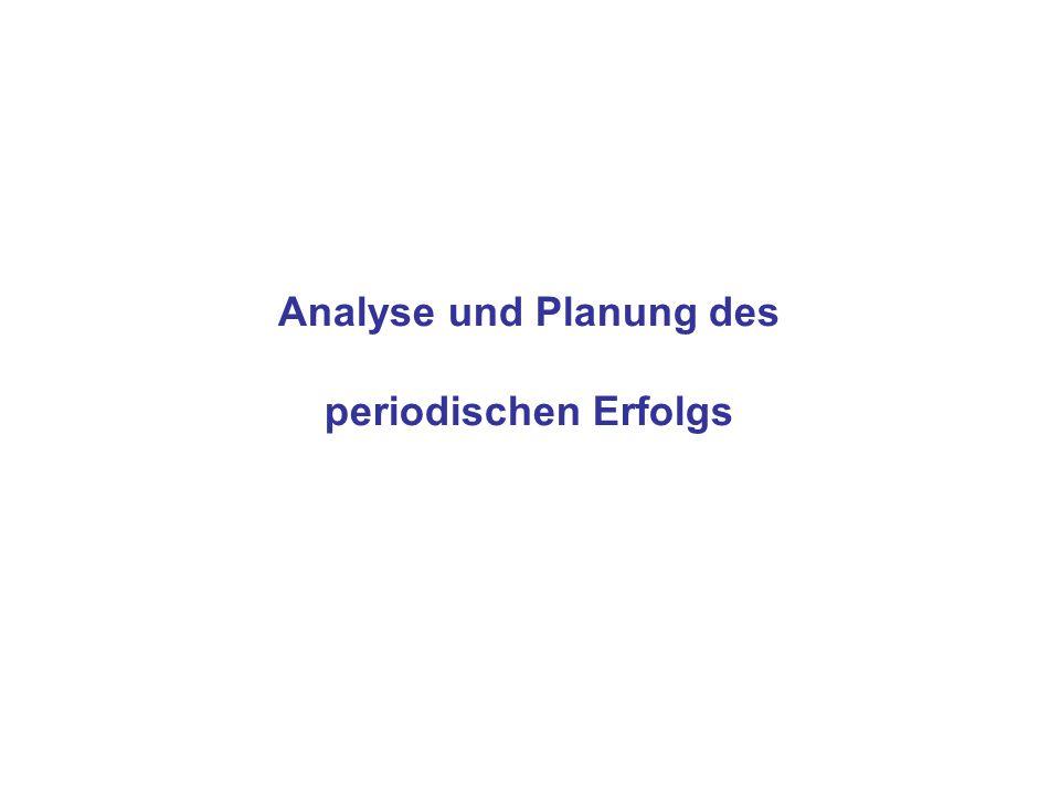 Analyse und Planung des periodischen Erfolgs