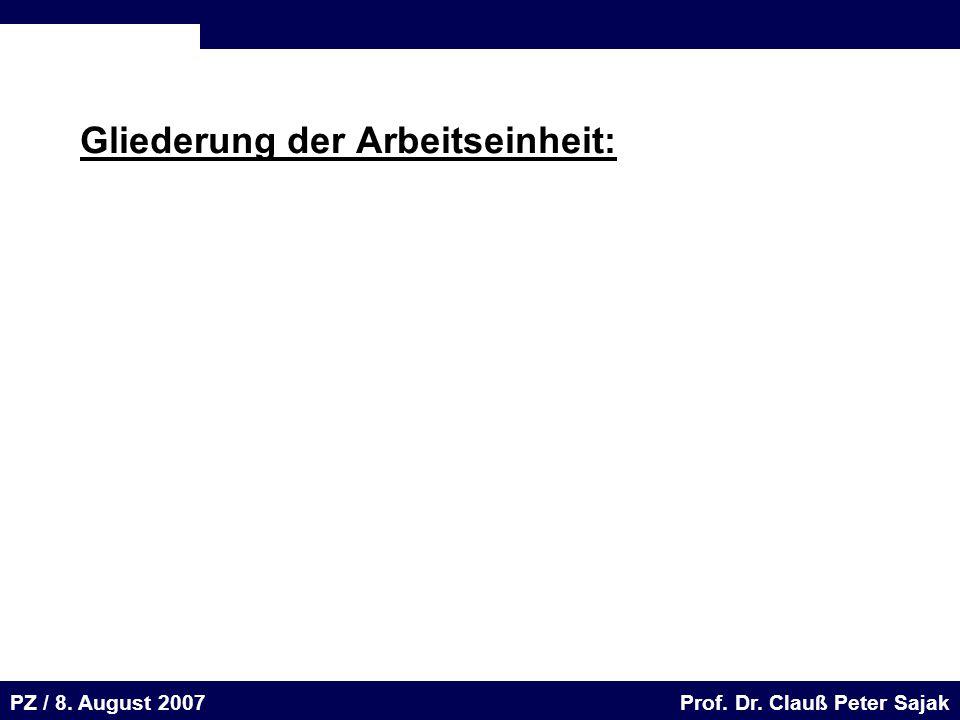 Seite 4 20.August 2001 Dr. H. Sievert / Dr. D. Seifert Arbeitsmeeting e-learning-Portal 20. August 2001Dr. H. Sievert / Dr. D. Seifert PZ / 8. August