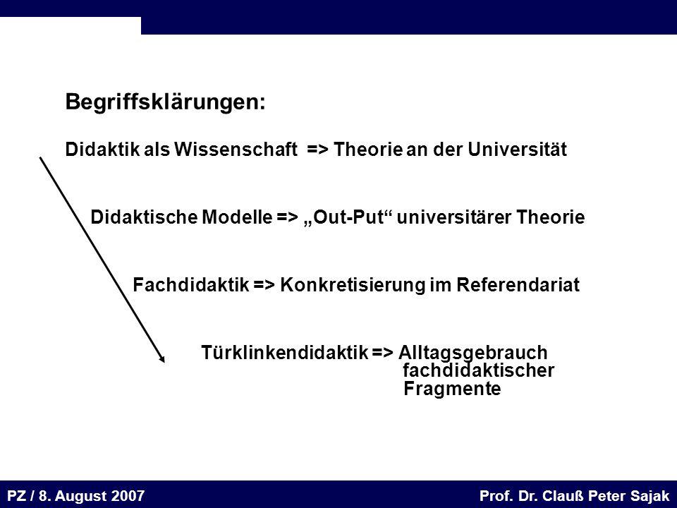 Seite 52 20.August 2001 Dr. H. Sievert / Dr. D. Seifert Arbeitsmeeting e-learning-Portal 20. August 2001Dr. H. Sievert / Dr. D. Seifert PZ / 8. August