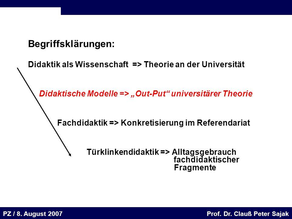 Seite 55 20.August 2001 Dr. H. Sievert / Dr. D. Seifert Arbeitsmeeting e-learning-Portal 20. August 2001Dr. H. Sievert / Dr. D. Seifert PZ / 8. August