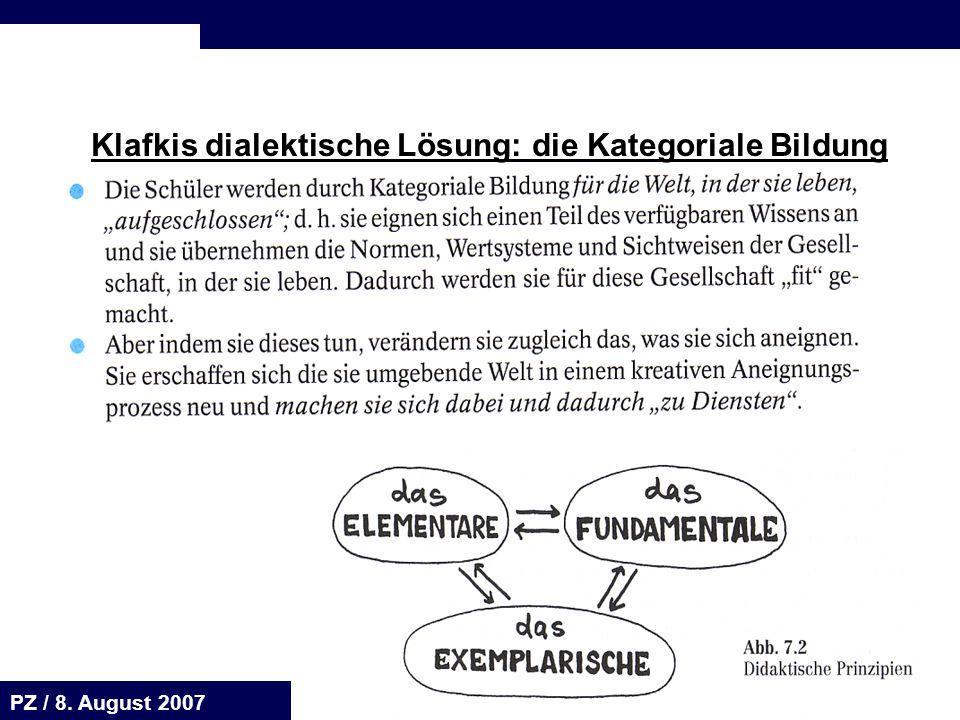 Seite 58 20.August 2001 Dr. H. Sievert / Dr. D. Seifert Arbeitsmeeting e-learning-Portal 20. August 2001Dr. H. Sievert / Dr. D. Seifert PZ / 8. August