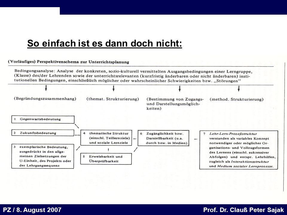 Seite 61 20.August 2001 Dr. H. Sievert / Dr. D. Seifert Arbeitsmeeting e-learning-Portal 20. August 2001Dr. H. Sievert / Dr. D. Seifert PZ / 8. August