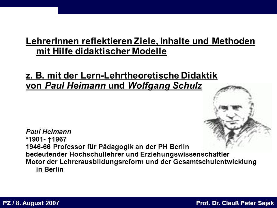 Seite 62 20.August 2001 Dr. H. Sievert / Dr. D. Seifert Arbeitsmeeting e-learning-Portal 20. August 2001Dr. H. Sievert / Dr. D. Seifert PZ / 8. August