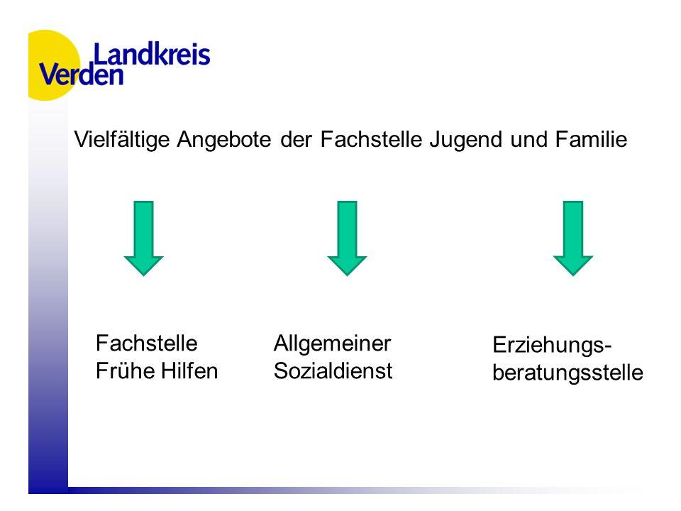 Vielfältige Angebote der Fachstelle Jugend und Familie Fachstelle Frühe Hilfen Allgemeiner Sozialdienst Erziehungs- beratungsstelle