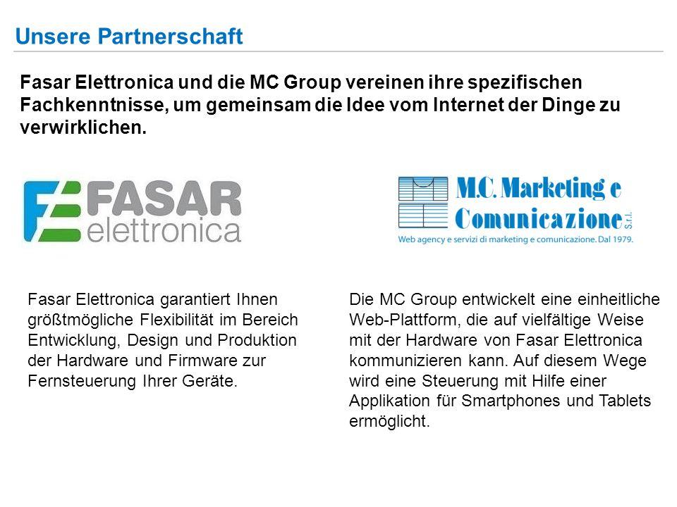 Unsere Partnerschaft Fasar Elettronica und die MC Group vereinen ihre spezifischen Fachkenntnisse, um gemeinsam die Idee vom Internet der Dinge zu verwirklichen.