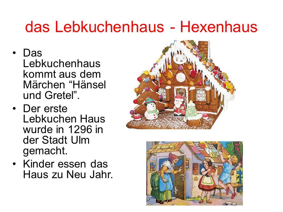 """das Lebkuchenhaus - Hexenhaus Das Lebkuchenhaus kommt aus dem Märchen """"Hänsel und Gretel"""". Der erste Lebkuchen Haus wurde in 1296 in der Stadt Ulm gem"""