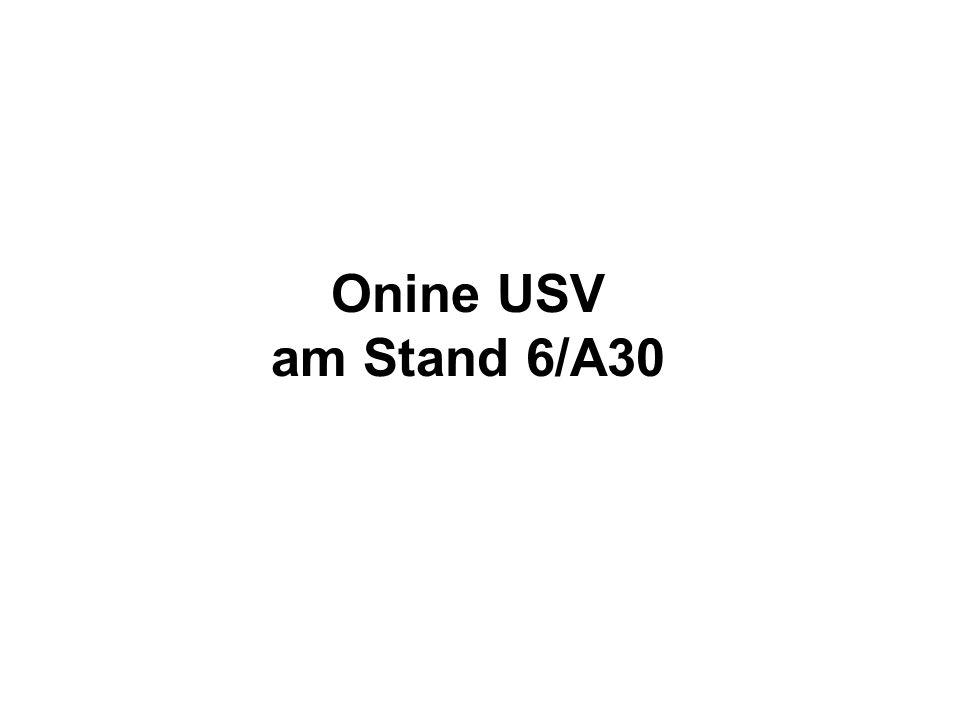 Onine USV am Stand 6/A30