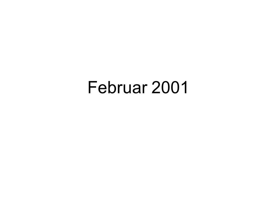 Februar 2001