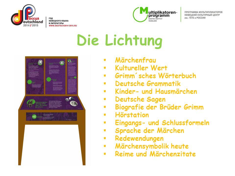  Märchenfrau  Kultureller Wert  Grimm´sches Wörterbuch  Deutsche Grammatik  Kinder- und Hausmärchen  Deutsche Sagen  Biografie der Brüder Grimm