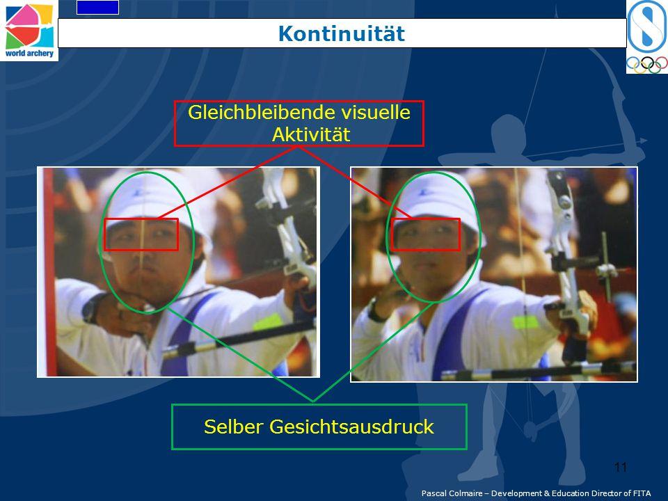 Gleichbleibende visuelle Aktivität Selber Gesichtsausdruck Kontinuität Pascal Colmaire – Development & Education Director of FITA 11