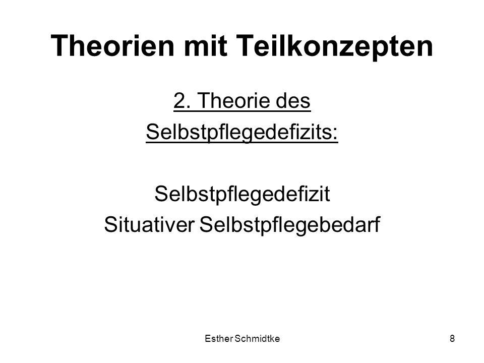 Esther Schmidtke8 Theorien mit Teilkonzepten 2.