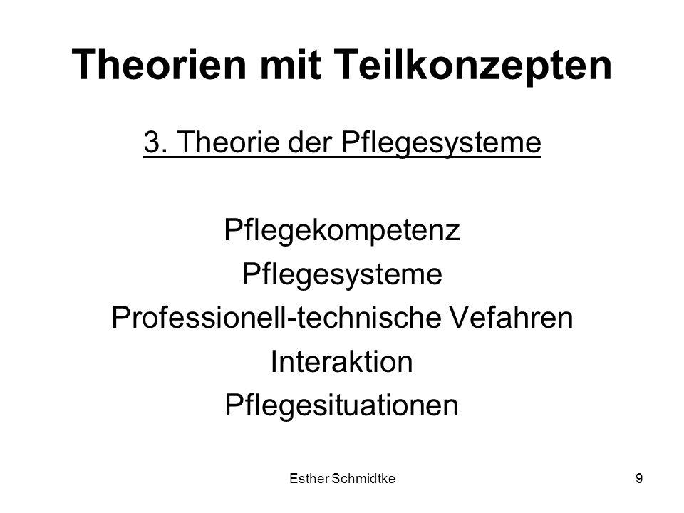 Esther Schmidtke9 Theorien mit Teilkonzepten 3.