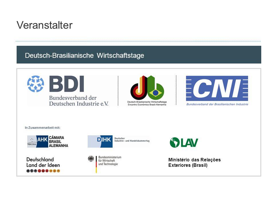 Deutsch-Brasilianische Wirtschaftstage 2010Seite 2 Sponsoren Hauptsponsoren Kurz-Info (was bekommt der Sponsor?) Hauptsponsoren