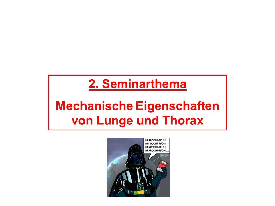 2. Seminarthema Mechanische Eigenschaften von Lunge und Thorax