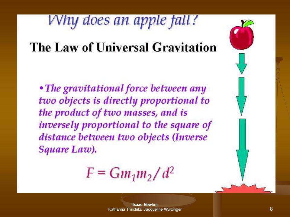 Isaac Newton Katharina Trischitz; Jacqueline Wurzinger 9 Die 3 Newtonschen Gesetze 1.