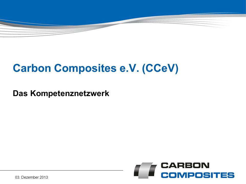 Carbon Composites e.V. (CCeV) Das Kompetenznetzwerk 03. Dezember 2013