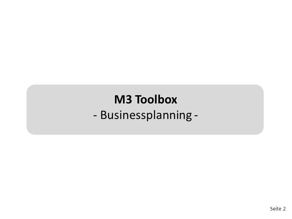 Seite 2 M3 Toolbox - Businessplanning -