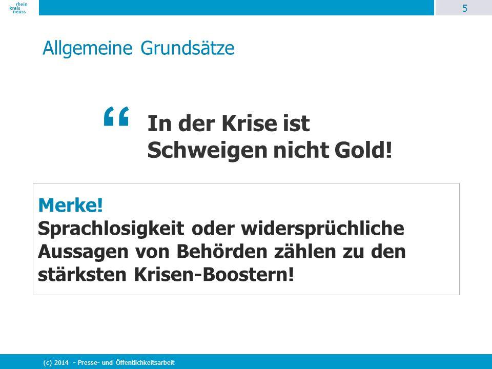 """26 (c) 2014 - Presse- und Öffentlichkeitsarbeit """"Goldene Regeln im Interview Merke."""