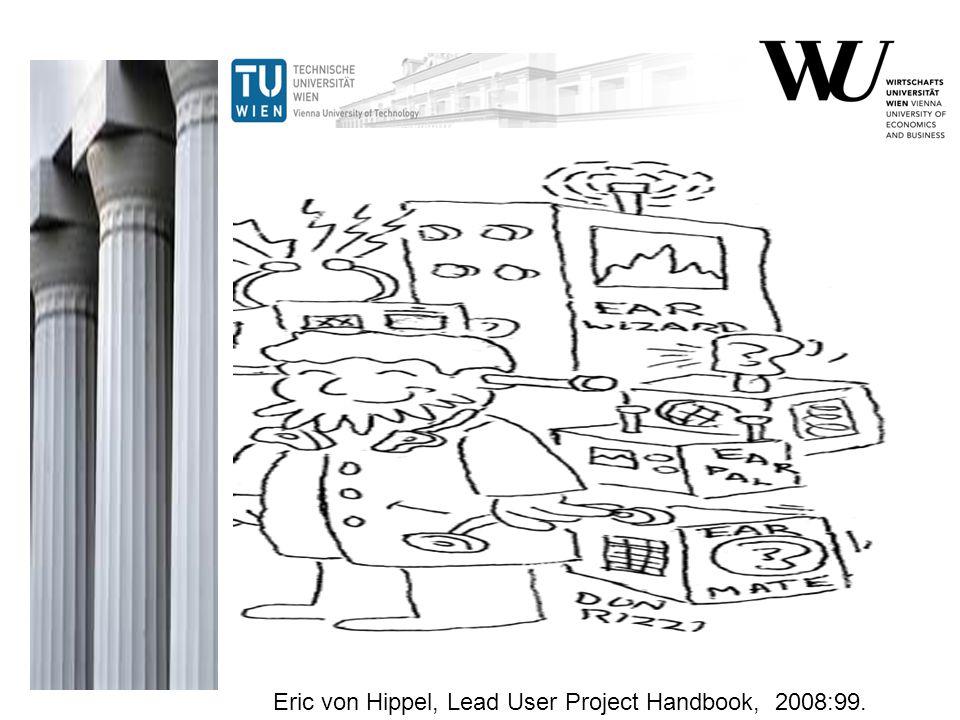 Boeing Eric von Hippel, Lead User Project Handbook, 2008:99.