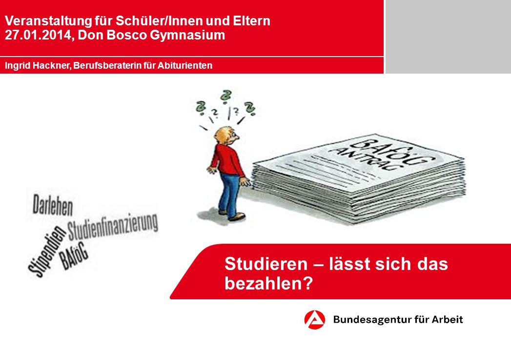 Studieren – lässt sich das bezahlen.