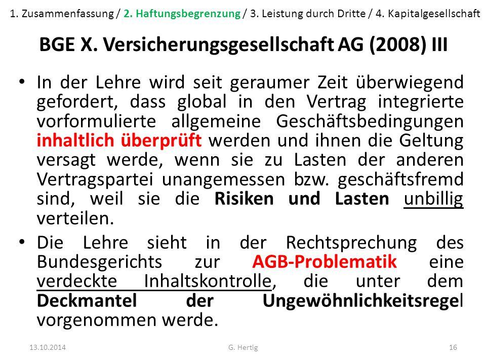 BGE X.