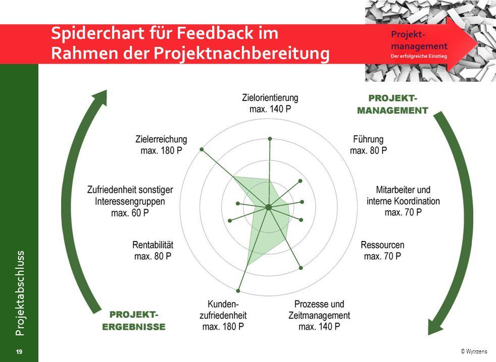 © Wytrzens Projektabschluss Spiderchart für Feedback im Rahmen der Projektnachbereitung 19