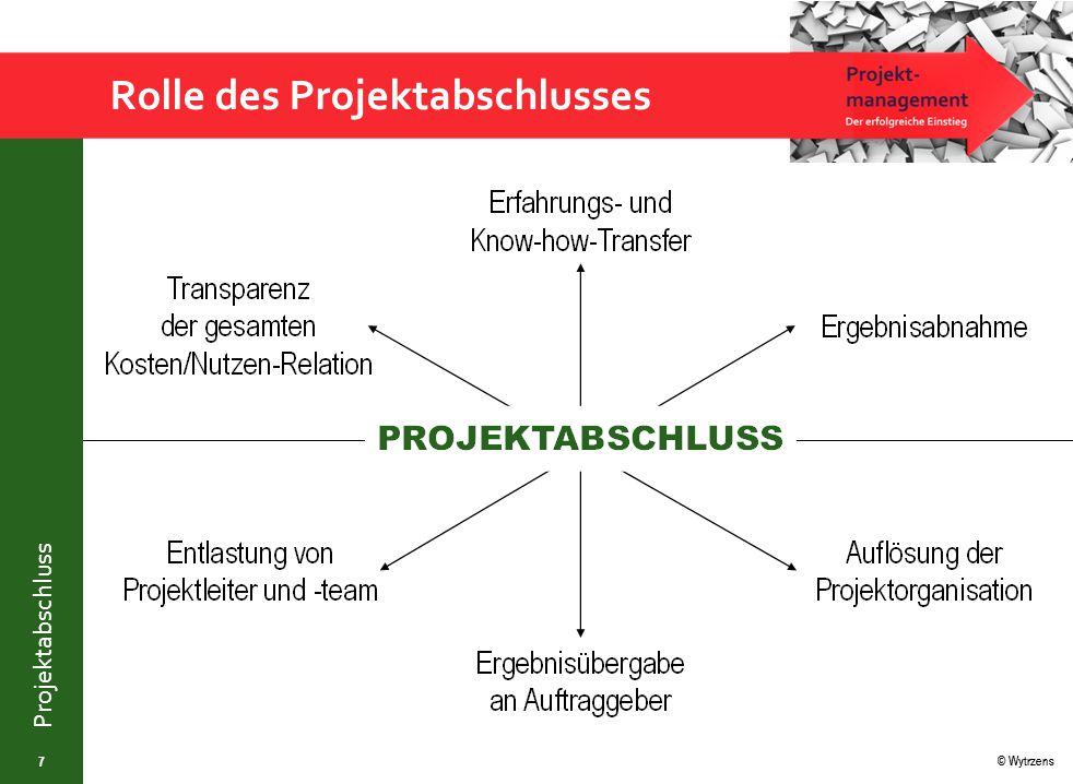 © Wytrzens Projektabschluss Analyse von Projektfehlschlägen 18