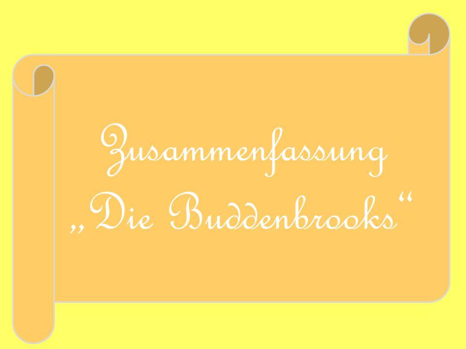 """Zusammenfassung """"Die Buddenbrooks"""""""