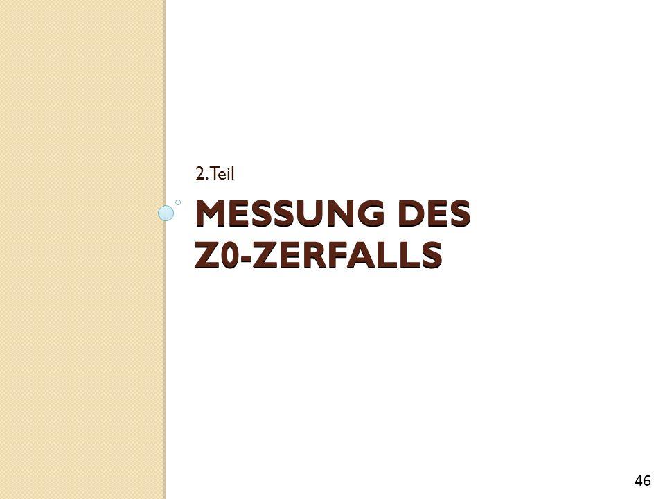 MESSUNG DES Z0-ZERFALLS 2.Teil 46
