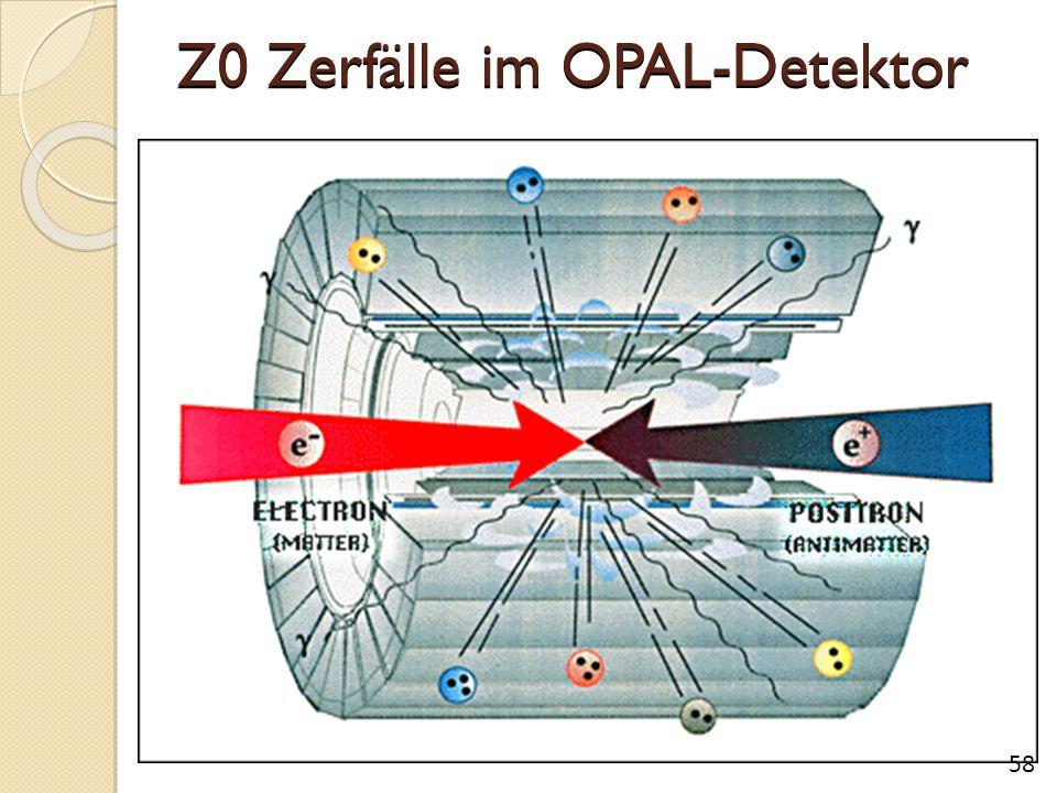 Z0 Zerfälle im OPAL-Detektor 58