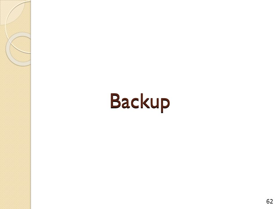 Backup 62
