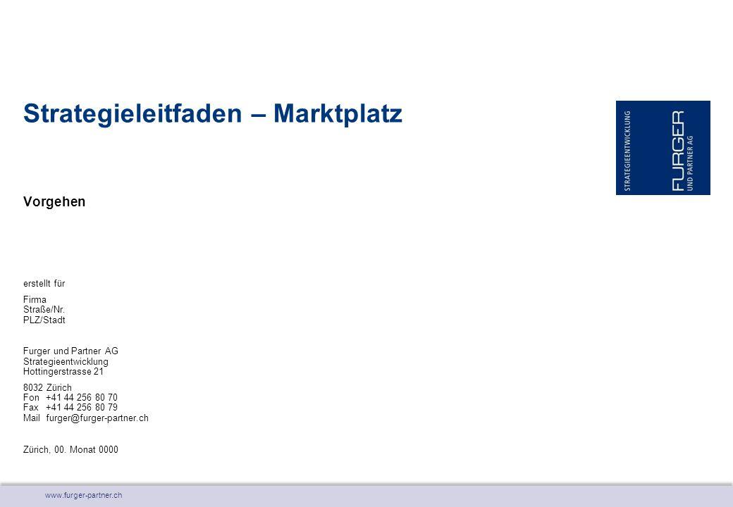 www.furger-partner.ch Vorgehen Strategieleitfaden – Marktplatz erstellt für Firma Straße/Nr. PLZ/Stadt Furger und Partner AG Strategieentwicklung Hott