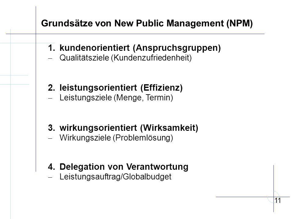 Grundsätze von New Public Management (NPM) 1.