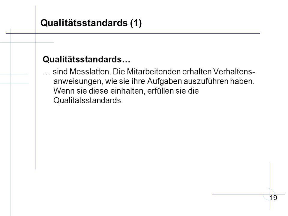 Qualitätsstandards (1) Qualitätsstandards… … sind Messlatten.
