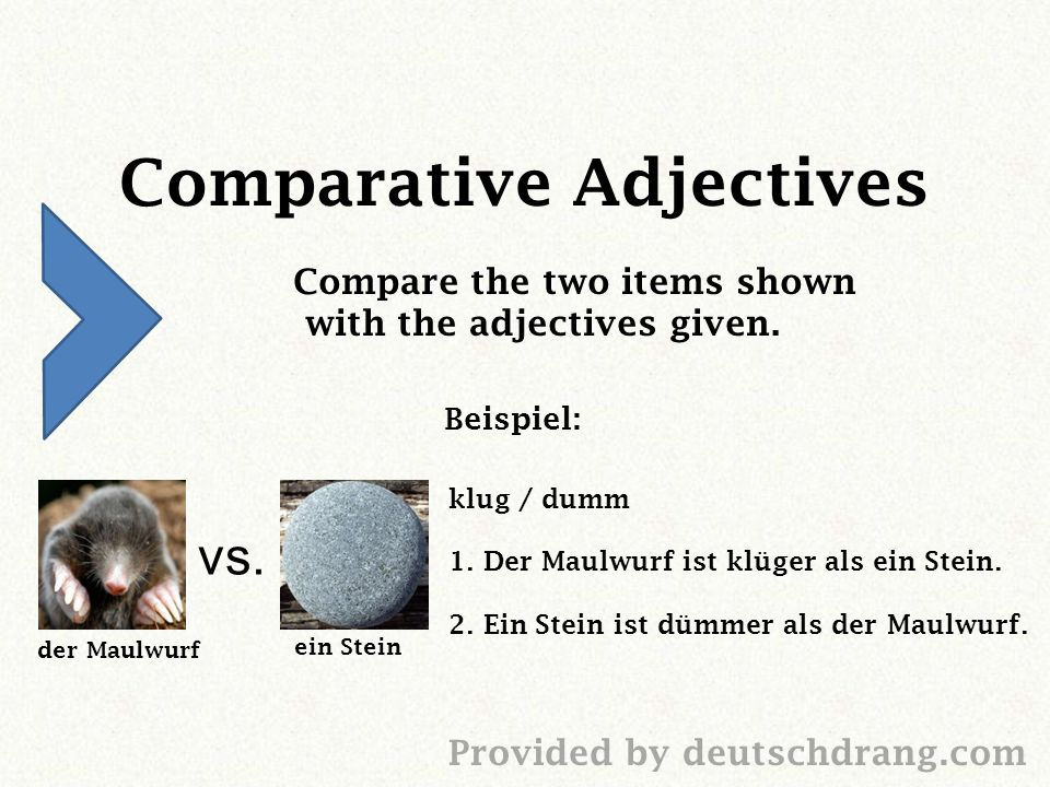 Comparative Adjectives Compare the two items shown with the adjectives given.
