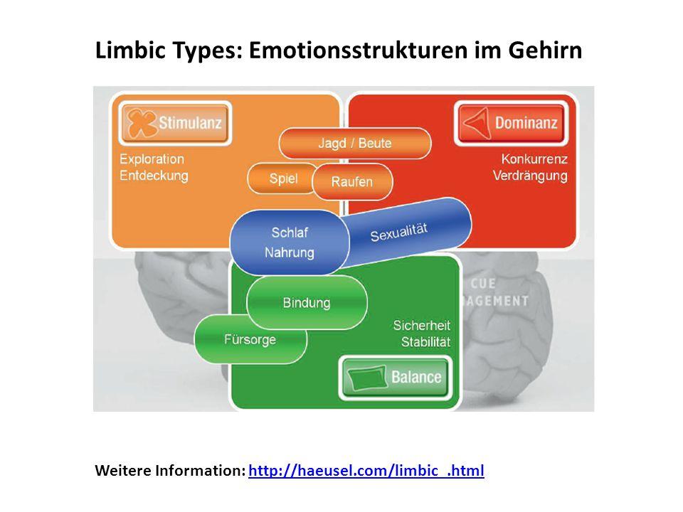 Limbic Types: Emotionsstrukturen im Gehirn Weitere Information: http://haeusel.com/limbic_.htmlhttp://haeusel.com/limbic_.html