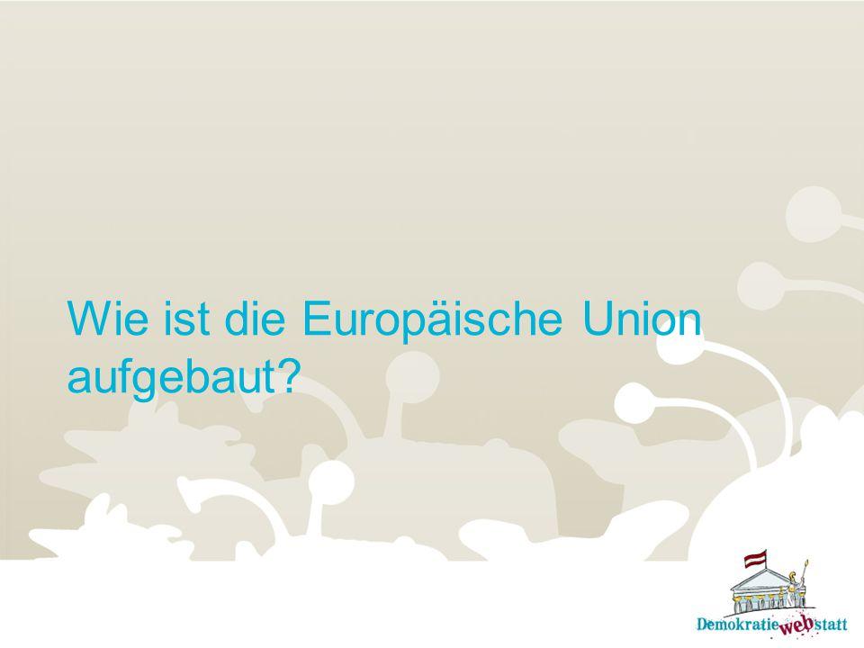 Wie ist die Europäische Union aufgebaut?