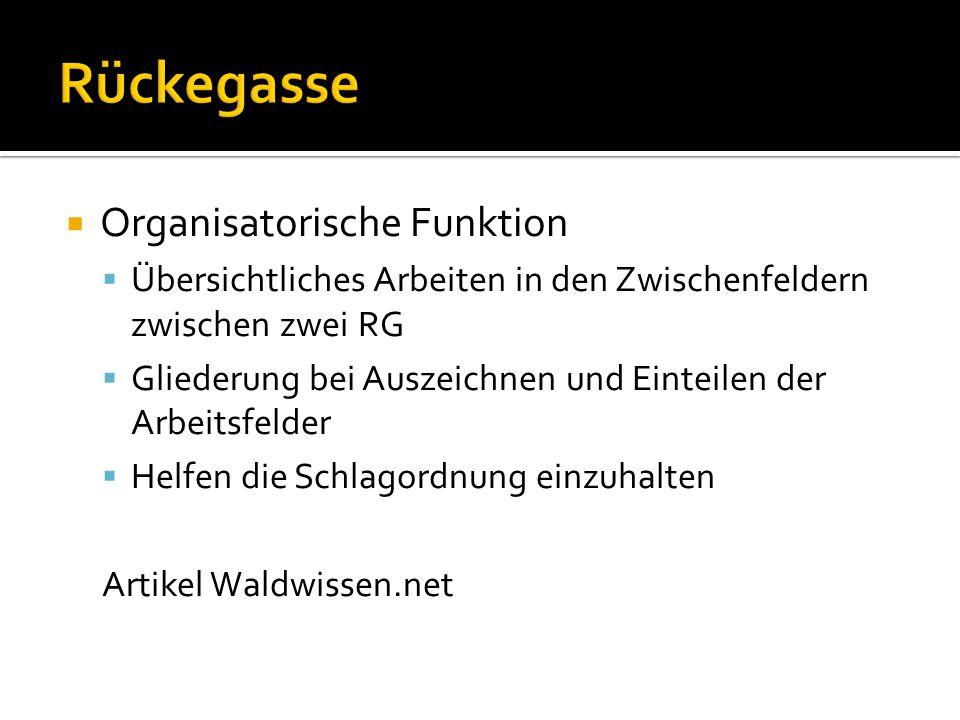  Organisatorische Funktion  Übersichtliches Arbeiten in den Zwischenfeldern zwischen zwei RG  Gliederung bei Auszeichnen und Einteilen der Arbeitsf