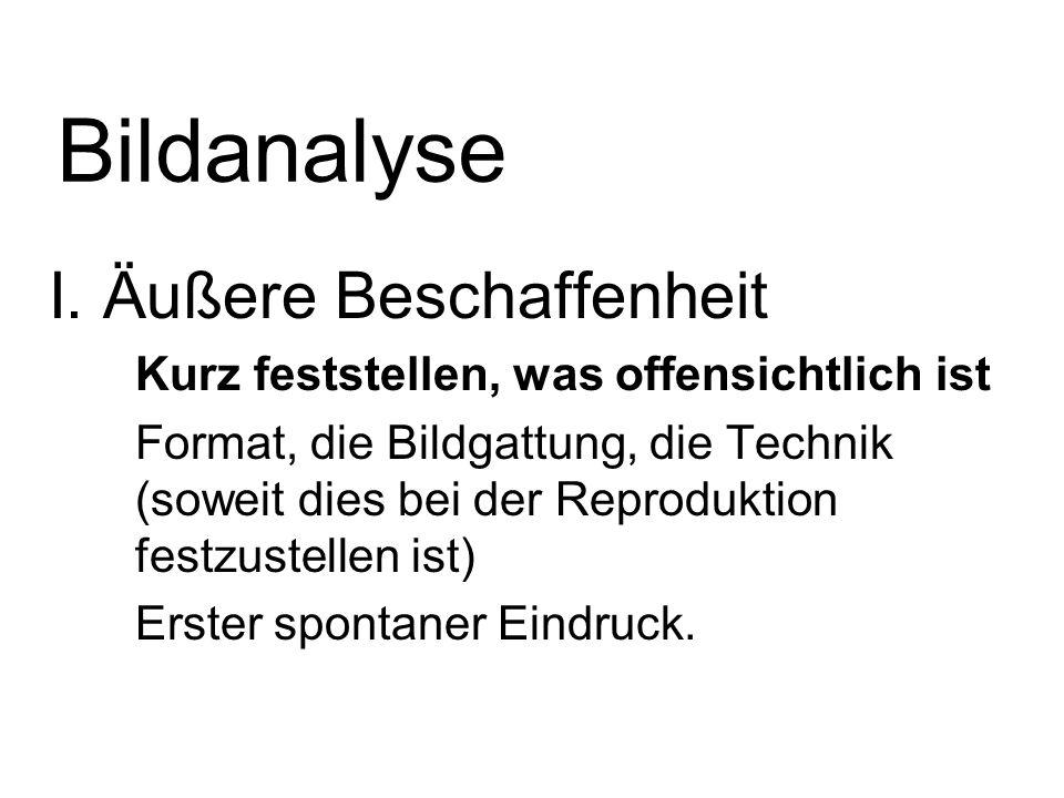 Bildanalyse I.
