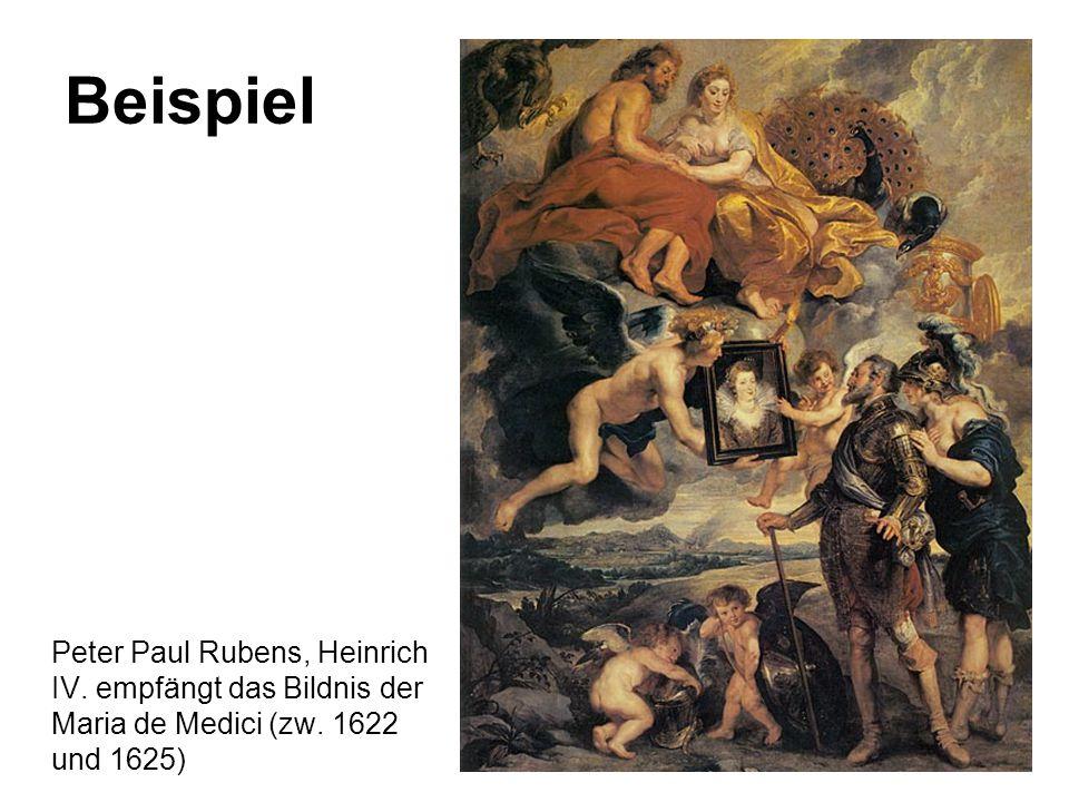 Beispiel Peter Paul Rubens, Heinrich IV. empfängt das Bildnis der Maria de Medici (zw. 1622 und 1625)