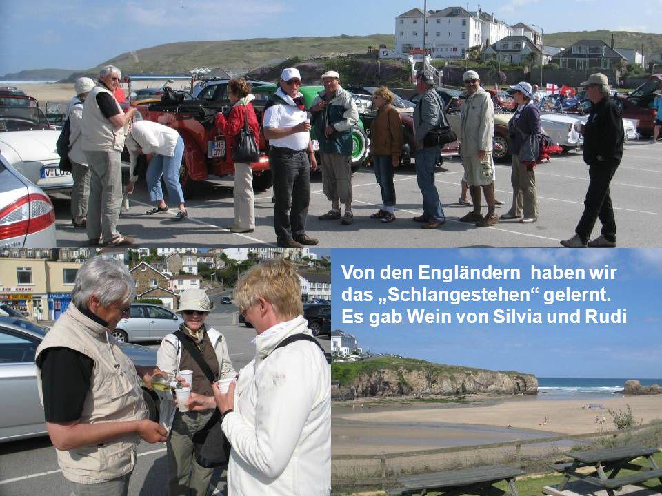 …wenn eine englische Familie bei 12 Grad (+) zum Strand pilgert….