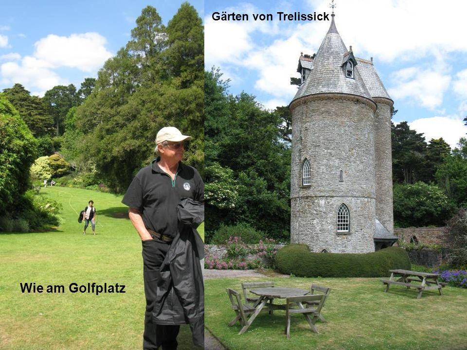 Wie am Golfplatz Gärten von Trelissick